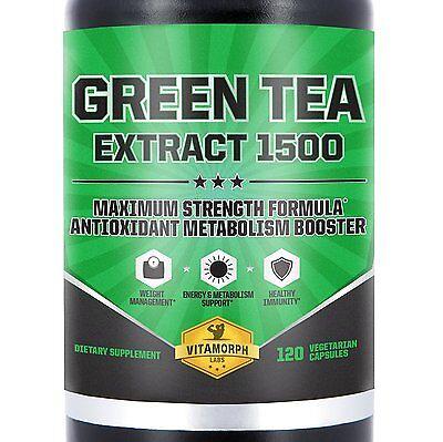 Mesomorph Green Tea Extract 1500  Maximum Potency Weight Fat Burner 120 Capsules