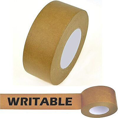 Paper Kraft Shipping Packaging Carton Sealing Roll Tape Writable Light Brown