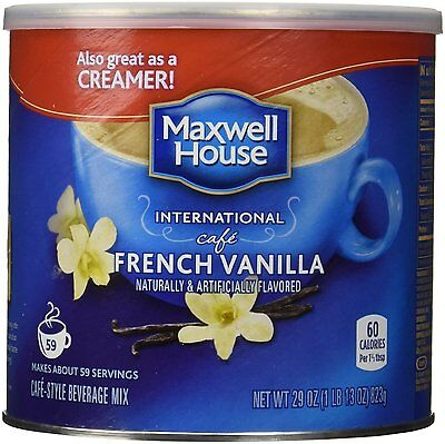 1 Maxwell House International Cafe French Vanilla 29oz Can - FREE SHIPPING!