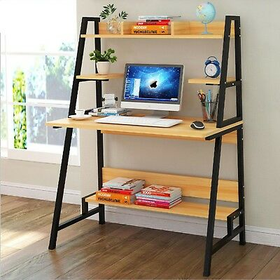 Wood Computer Desk Pc Laptop Table Shelf Stand Organizer Workstation Home Office