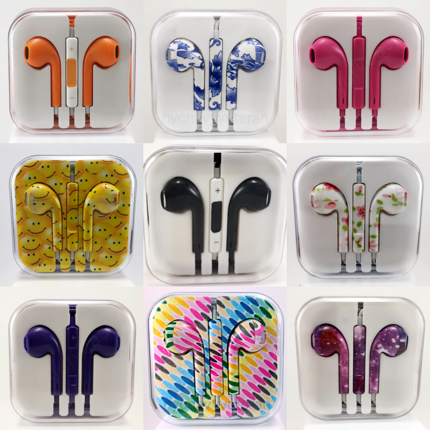3.5mm Earbuds Earphones Headphones Headsets For iPhone and Samsung Remote & Mic