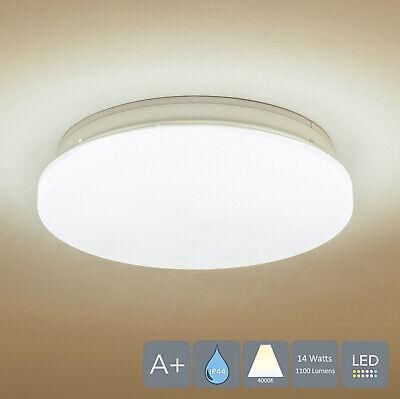 AUROLITE LED Super Slim Bathroom Ceiling Light, IP44, 14W, Natural White, Ø:26cm