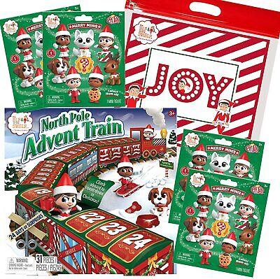 Elf on the Shelf Advent Calendar Train, 4 Merry Mini Mystery Bags & Joy Bag