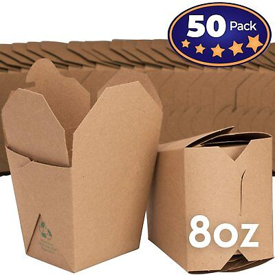 Microwavable Brown Chinese 8 oz Take Out Boxes. 50 Pack by Avant Grub...](Takeout Box)