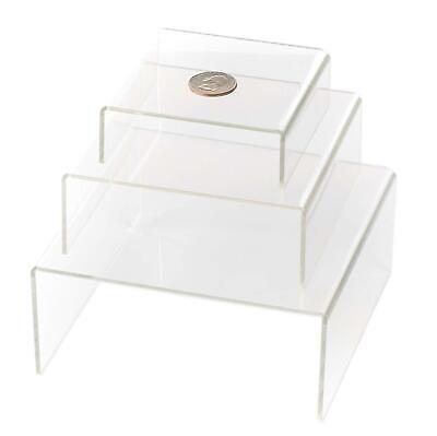 Huji Clear Medium Low Profile Set Of 3 Acrylic Risers Display Stands 1 Set
