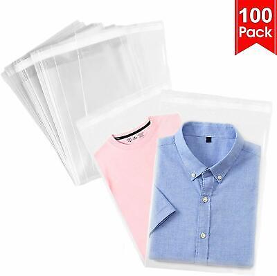 100pcs Resealable Poly Bags Clear Opp Bag Plastic Bags Self Seal  9.5