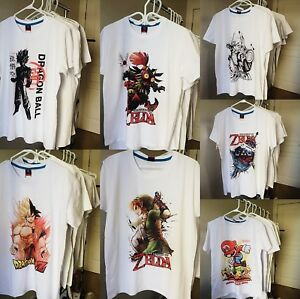 Zelda, Dragonball and Mario T-shirt's