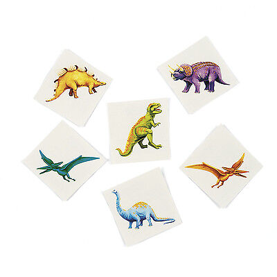 72 Dinosaur TATTOOS Party Favors T Rex Tyrannosaurus Paleontologists Dino Dig - Dinosaur Party