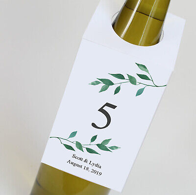 Winery Wedding Table Numbers, Wine Bottle Tags, Personalized tags - Wine Bottle Table Numbers