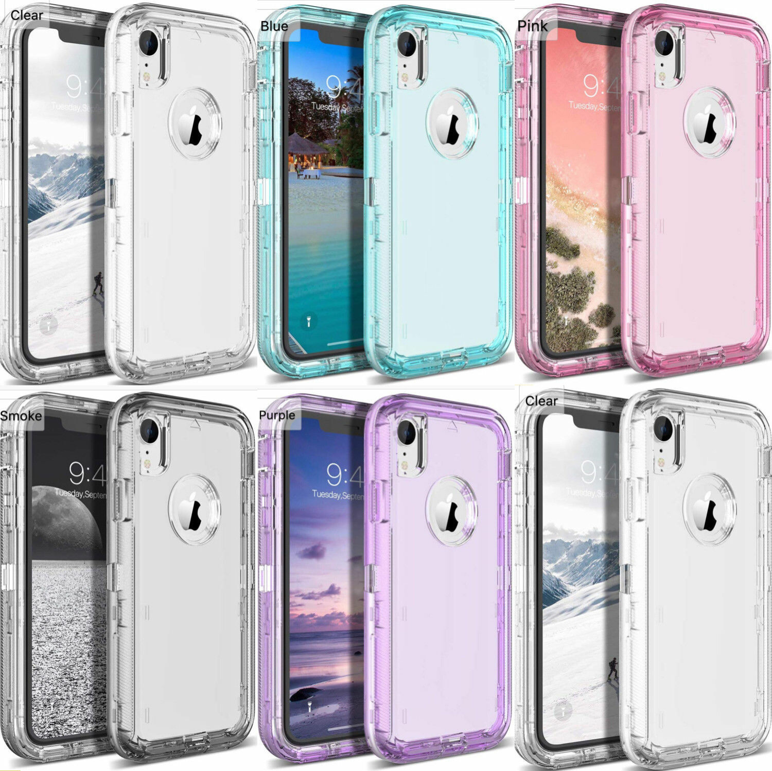 Clear Defender Case for iPhone 11 Pro XS MAX X XR 6 7 8 Plus