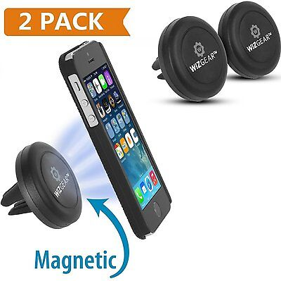 WizGear 2 Pack Car Mount Magnetic Air Vent Cradle Grip Mobile Phone Universal
