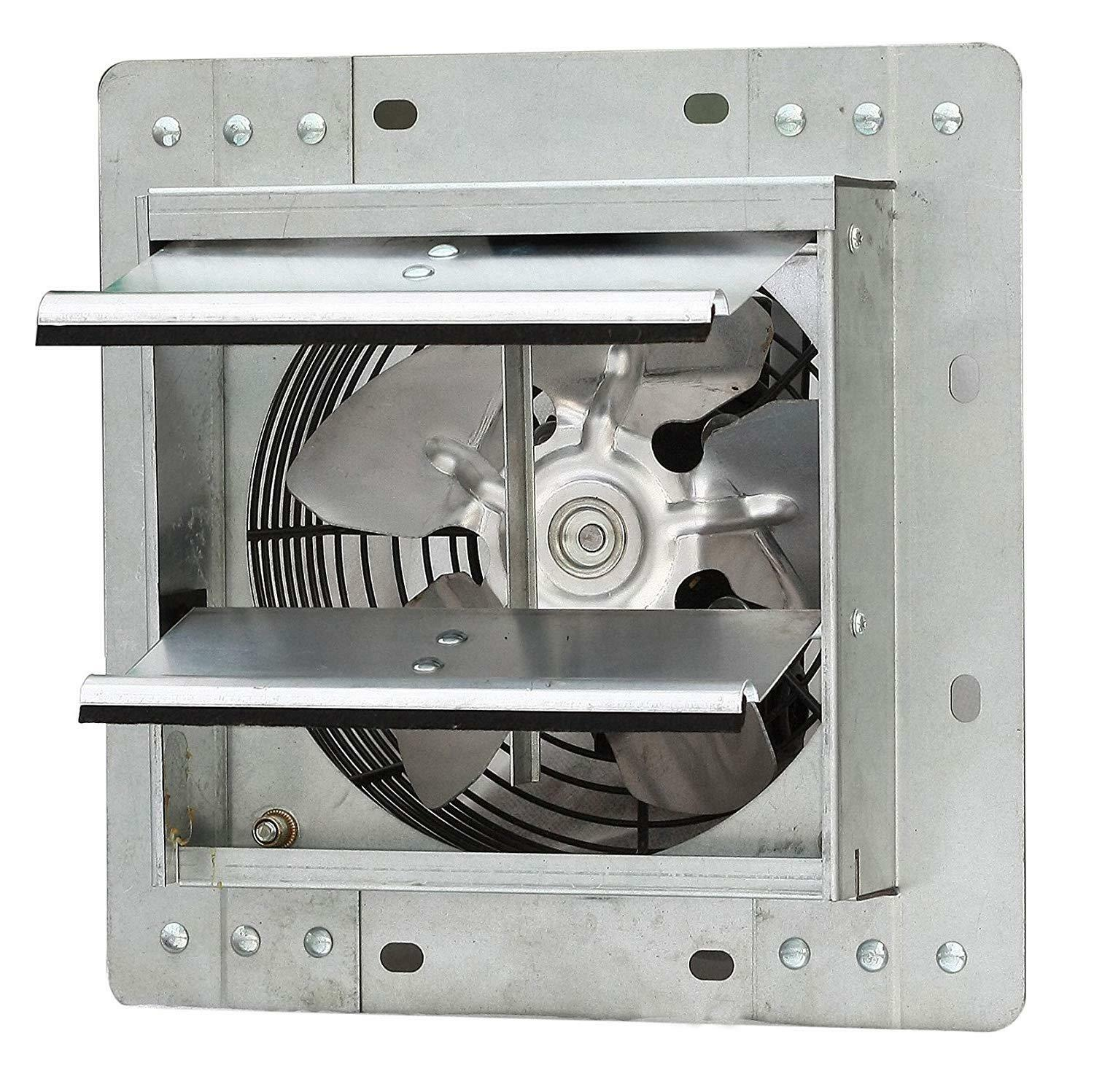 "7"" Industrial Exhaust Shutter Fan Variable Speed Wall Mount"