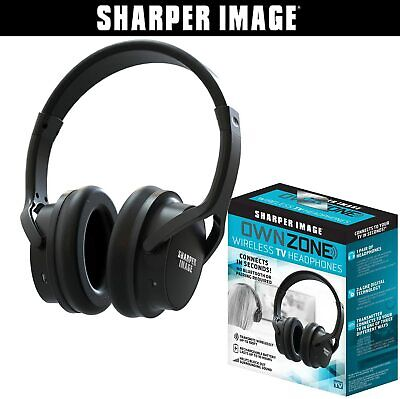 New Sharper Image Own Zone Wireless TV Headphones ear Plug Audio Hear Recharge
