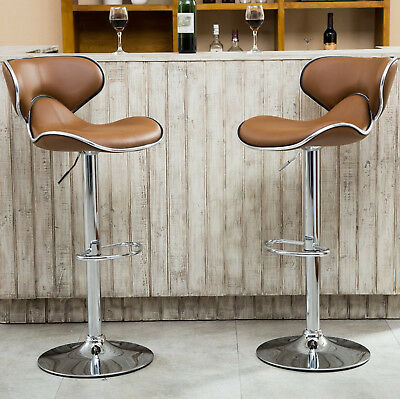 Bar Stools Set 2 Piece Swivel Adjustable Seat Metal Pub Counter Chair Modern (2 Piece Swivel Counter)