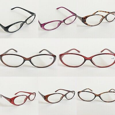 Men Women Plastic Lightweight Oval Frame Reading Glasses Eyeglasses Eyewear