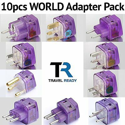 10 Lots UNIVERSAL WORLD TRAVEL ADAPTER PLUG Multi Kit Set for EUROPE AFRICA ASIA