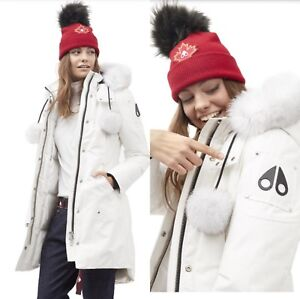 Moose Knuckle Stirling Parka in Snow White