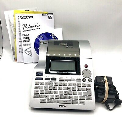 Brother P-touch Pt-2700 Thermal Label Printer W Case Manual Cds