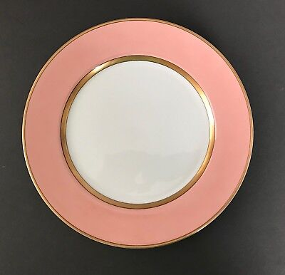 Fitz and Floyd RENAISSANCE Peach with gold band 10 3/8 inch Dinner Plate MINT Fitz And Floyd Renaissance