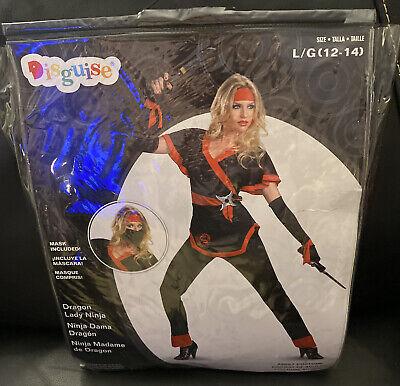 DRAGON LADY NINJA COSTUME * Women's: Lg. * Halloween * New In Package