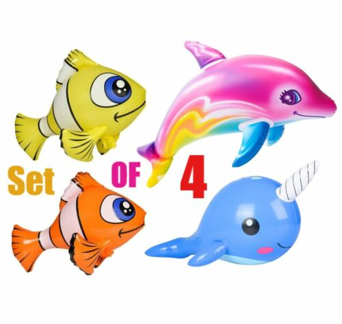 %28Set+Of+4%29+Clown+Fish+%2F+Narwhal+%2F+Rainbow+Dolphin+Inflatable+Party+Decoration++