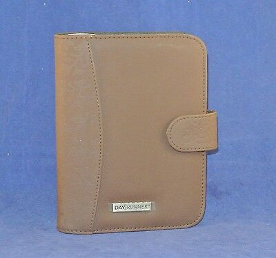1 Rings Compact Brown Nylon Dayrunner Planner Binder Fits Franklin Inserts