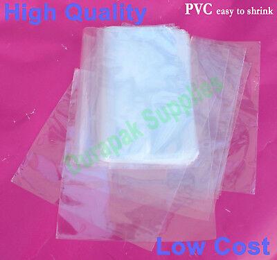 500 Pcs 6.5x9 Cd Dvd Pvc Shrink Film Wrap Flat Bag Heat Shrinking Packaging
