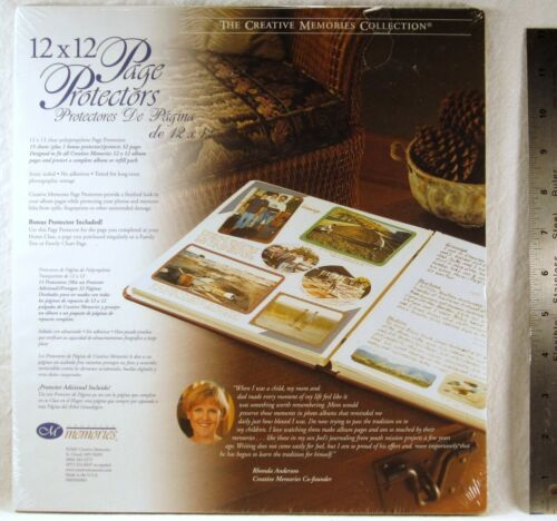SEALED Creative Memories 12x12 PAGE PROTECTORS 15 Count 32 Pages BONUS SHEET