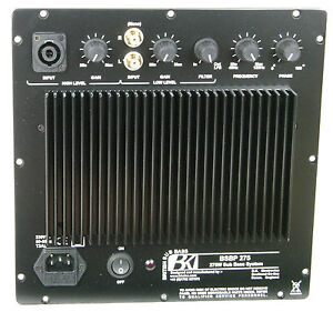BK Electronics BSBP275 Subwoofer Amplifier - Plate Amp.. 275 Watt UK Made New
