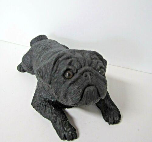 Black Pug Figurine