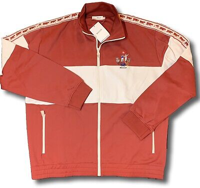 $550 Bally Animals Red Track Jacket Size XXXL Made in Italy for sale  Shipping to India