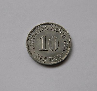 KAISERREICH: 10 Pfennig 1903 A, J. 13, fast stempelglanz