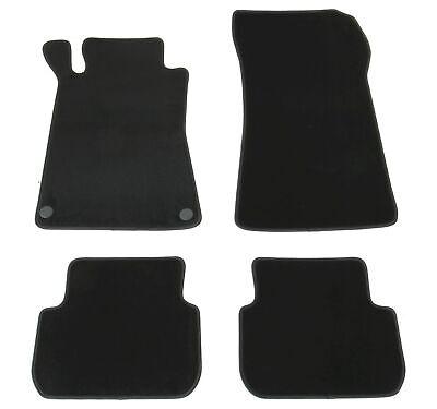 Fußmatten Set für Mercedes CLK W209 A209 C209 Velours Qualität Autoteppiche 4tlg