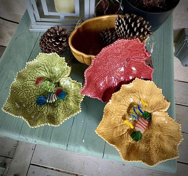 Bordello Pinheiro Fall Leaf Dishes Set Of 3