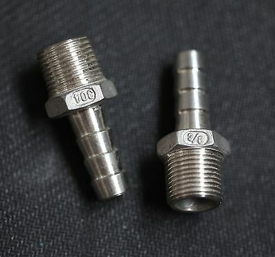 Hb037037 Stainless Steel Hose Barb 38 Npt Pipe - 38 Hose