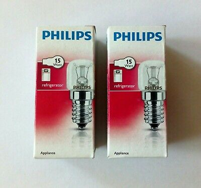 2x Philips Appliance Glühbirne Kühlschrankbirne Glühlampe Klar E14 15W T25 CL