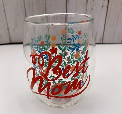 """New Stemless Wine Glass By Top Shelf """"Best Mom """" Double Walled"""