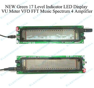 Green 17 Level Indicator Led Display Vu Meter Vfd Fft Music Spectrum 4 Amplifier