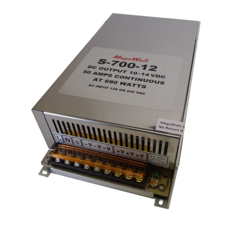 50 Amp Continuous 100 Amps+ When Stacked 10-14 Volt Power Supply 12 MegaWatt®