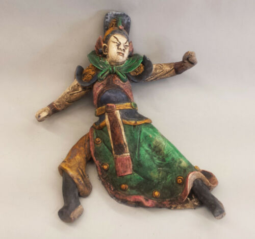 Chinese Warrior Ceramic Roof Ornament 19th c.
