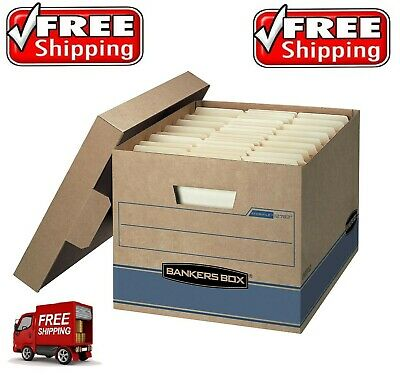 Bankers Box Heavy Duty Storage Boxes 10 X 12 X 15 - 10 Pack