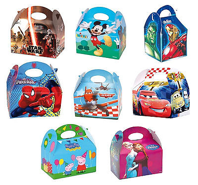 Character Party FOOD BOXES - Childrens Kids Birthday Loot Favour (Disney Marvel)