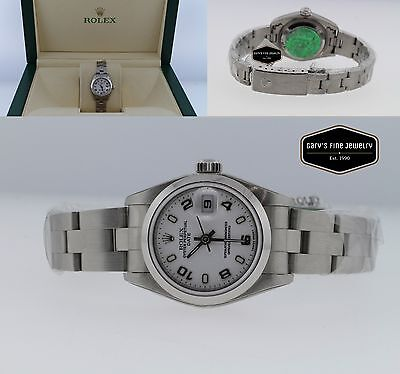 Rolex 79160 Date Oyster Perpetual Date Stainless Steel Ladies Watch White Dial