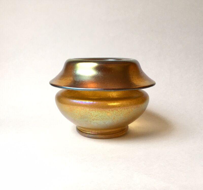 Antique Loetz Candia Silberiris Vase / Bowl 1900 Bohemian Art Nouveau Jugendstil