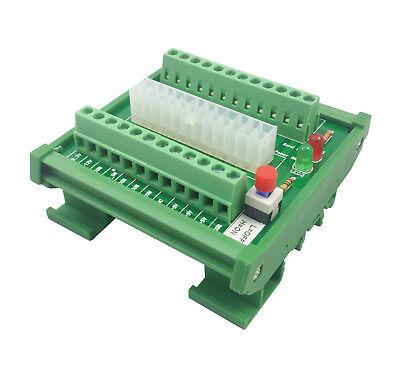 Rail Mount Power Supply (DIN Rail Mount ATX Power Supply Breakout Board Bench Mountable PSU Adapter)