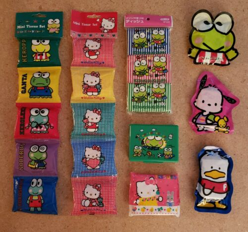 RARE SANRIO VINTAGE TISSUES NEW/UNOPENED  18 TISSUE PACKAGES