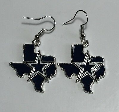 New Dallas Cowboys Texas Shape Fish Hook Earrings, Gift for Her Mom](Cowboy Gifts)