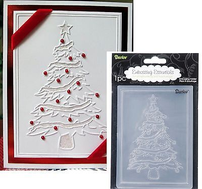 Darice Embossing Folder Christmas Tree Holidays 1215-56 Cuttlebug Compatible Cuttlebug New Embossing Folder