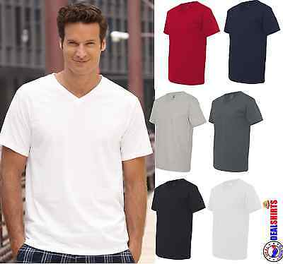 Fruit of the Loom V-Neck Heavy 100% Cotton T-Shirt Mens Wome