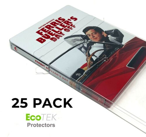 25 Pack Steelbook Protector Cases Plastic Protective Slipcover Sleeves